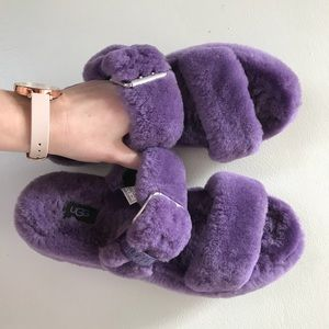 Ugg FUZZ YEAH violet bloom purple slippers size 10